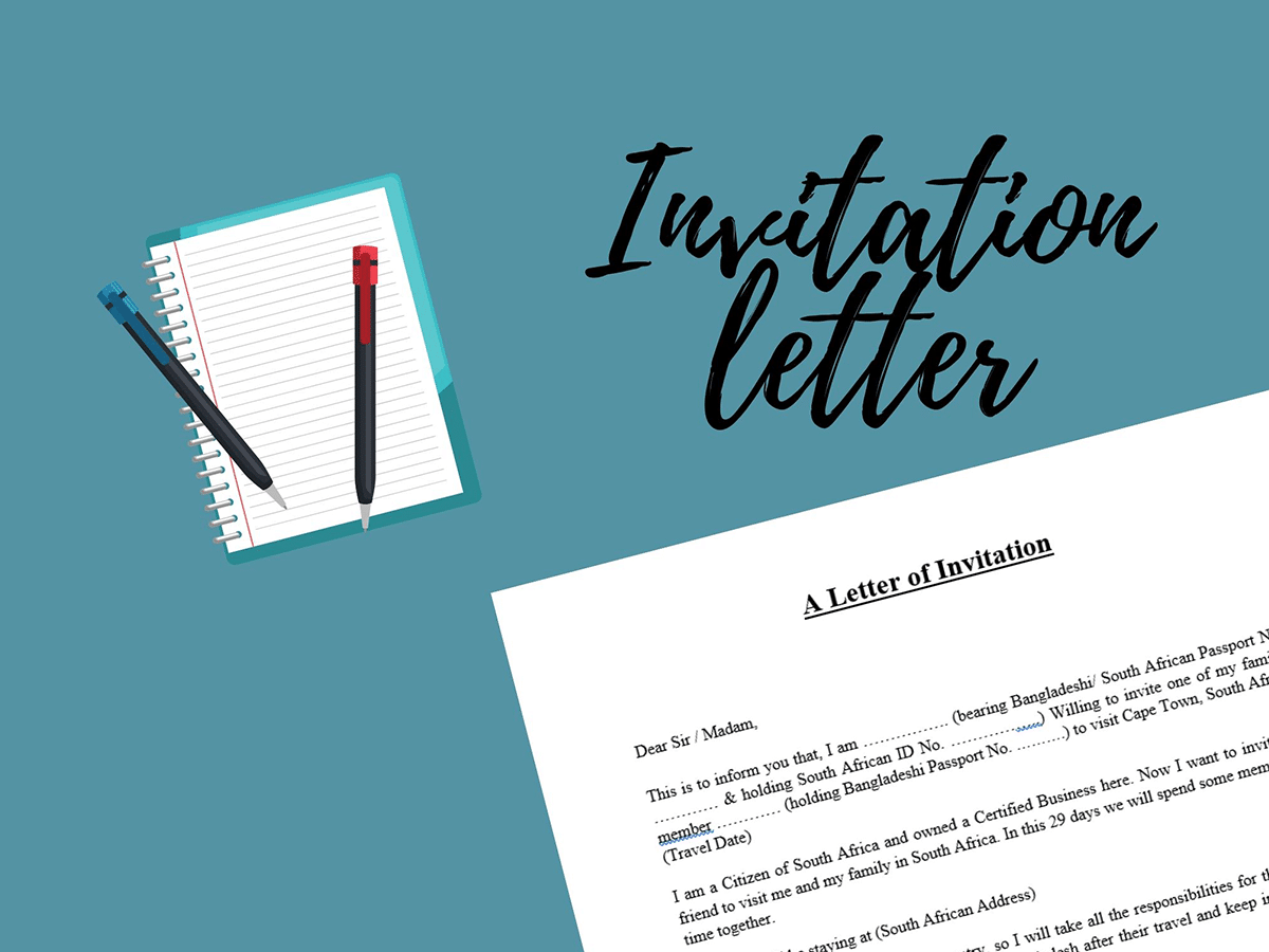 why do you need an invitation letter for a visa?